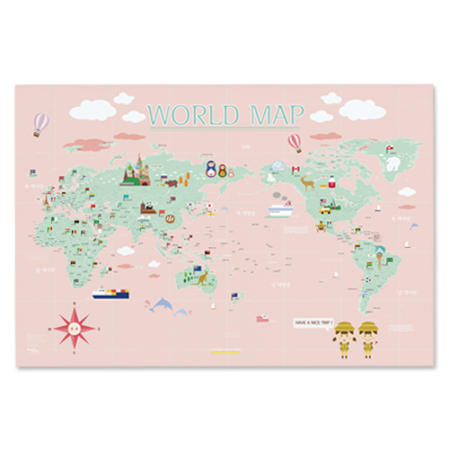 WORLD MAP ver.Kids (pink)