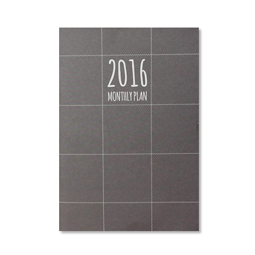 2016 MONTHLY PLANNER_LINE BLACK