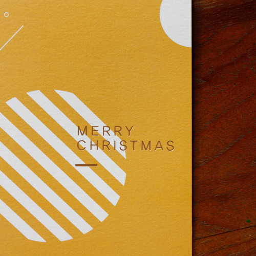 CHRISTMAS CARD BELL-YELLOW