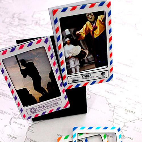 MAGNETIC PHOTO FRAME MINI STAMP VERSION 4TYPES